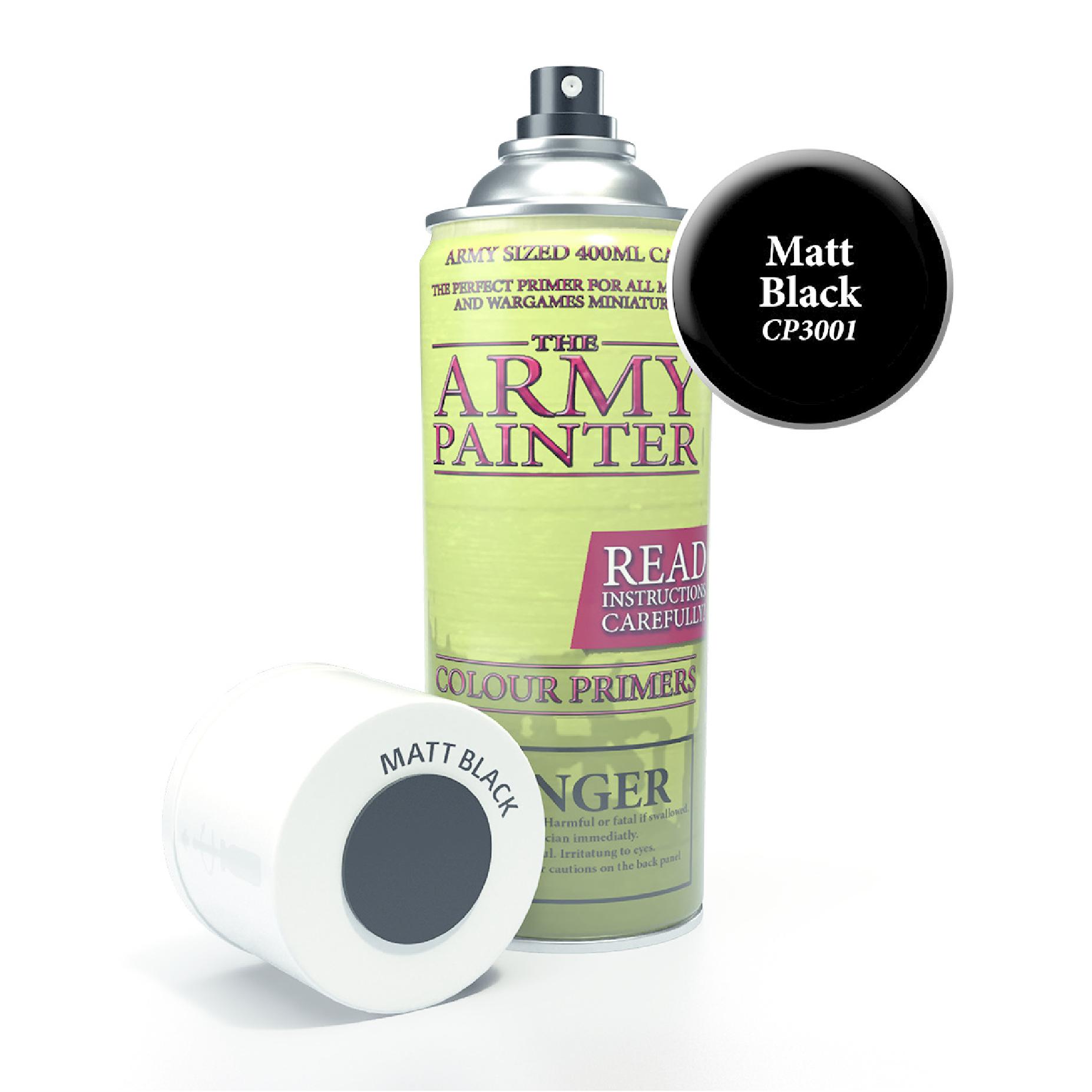 Army Painter Base Primer - Matt Black Spray 400 ml