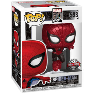 Funko POP! Marvel 80th - Spider-Man (Metallic) Vinyl Figure 10 cm