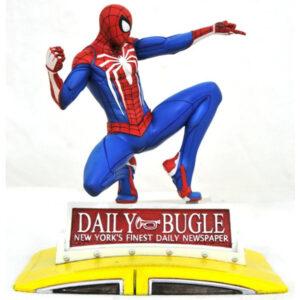 Diamond Select: Marvel - PS4 Spider-Man on Taxi PVC Diorama 23 cm